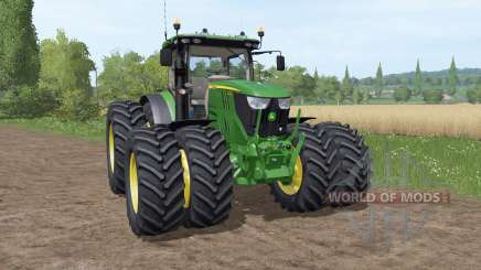 John Deere 6195R v3.1 for Farming Simulator 2017