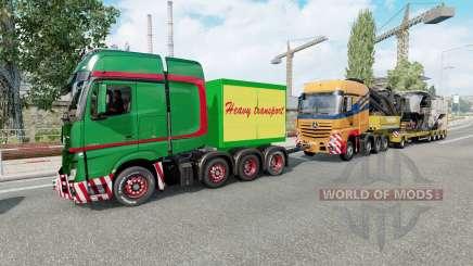 Heavy Haulage Convoy for Euro Truck Simulator 2