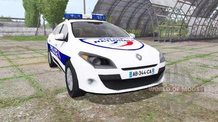 Renault Megane Estate 2009 Police Nationale for Farming Simulator 2017