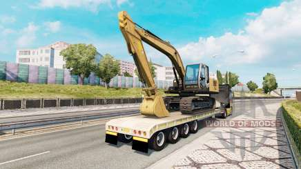 Trailer with construction equipment for Euro Truck Simulator 2