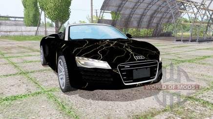 Audi R8 V10 Spyder 2012 Black Rift for Farming Simulator 2017