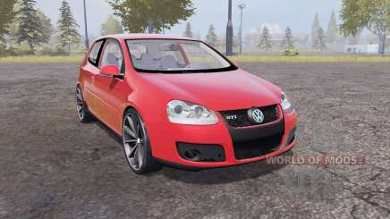 Volkswagen Golf GTI 3-door (Typ 1K) 2004 red for Farming Simulator 2013