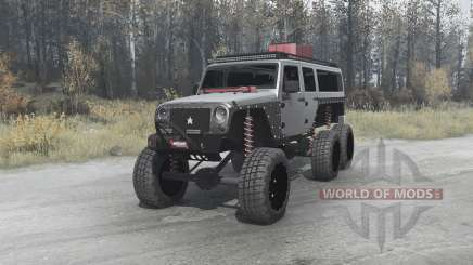Jeep Wrangler Unlimited 6x6 (JK) crawler for MudRunner