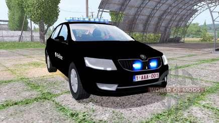 Skoda Octavia (5E) 2013 Belgian Police for Farming Simulator 2017