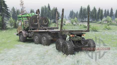 KamAZ 43101 for Spin Tires
