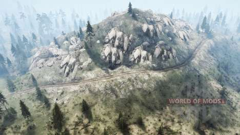 Among the mountains for Spintires MudRunner