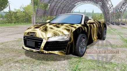 Audi R8 V10 Spyder 2012 Electric for Farming Simulator 2017