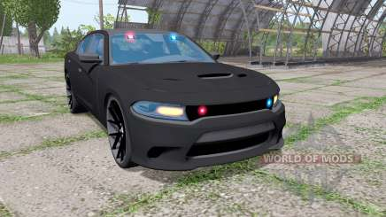Dodge Charger SRT Hellcat 2015 Unmarked Police for Farming Simulator 2017