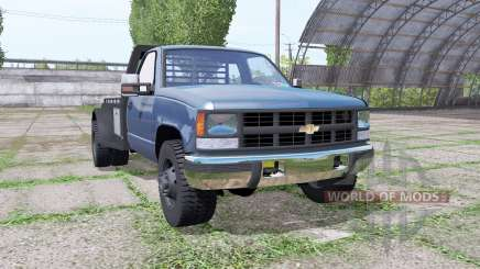 Chevrolet K3500 1994 flatbed for Farming Simulator 2017