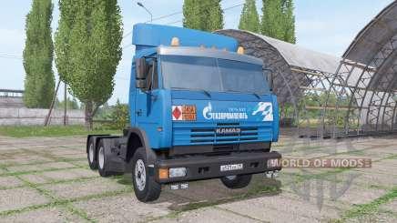 KAMAZ 54115 Gazprom Neft v1.2 for Farming Simulator 2017