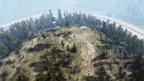 The construction of the road for Spintires MudRunner