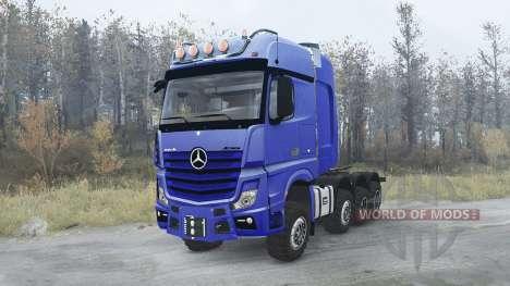 Mercedes-Benz Actros 4163 SLT (MP4) 8x8 for Spintires MudRunner