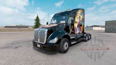 Skin Sleeping Dogs on the truck Kenworth T680 for American Truck Simulator