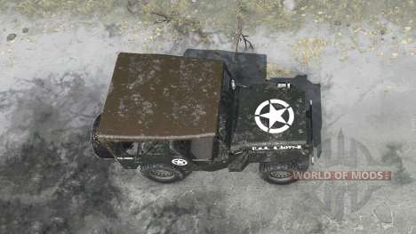 Willys MB 1942 U.S.Army for Spintires MudRunner