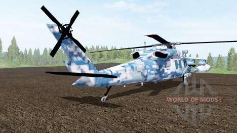 Sikorsky UH-60L Black Hawk winter camo for Farming Simulator 2017