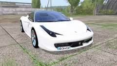 Ferrari 458 Italia Pininfarina for Farming Simulator 2017