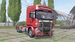 Scania R730 V8 Topline hooklift v1.0.4.3 for Farming Simulator 2017
