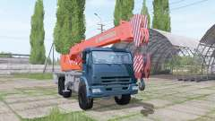 KAMAZ 65222 2009 crane for Farming Simulator 2017