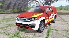 Volkswagen Amarok Double Cab feuerwehr v1.1 for Farming Simulator 2017