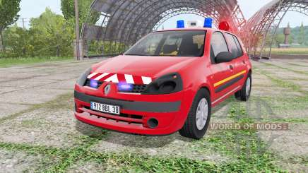 Renault Clio 2003 Pompier v2.0 for Farming Simulator 2017