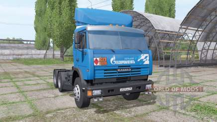 KAMAZ 54115 Gazprom Neft v1.3 for Farming Simulator 2017