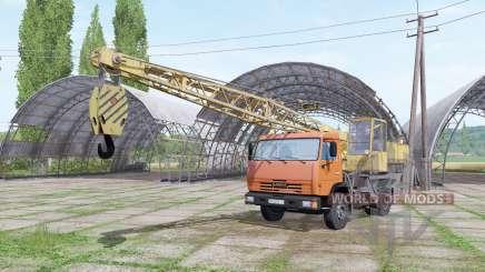 KAMAZ 43255 crane for Farming Simulator 2017