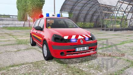 Renault Clio 2003 Pompier for Farming Simulator 2017