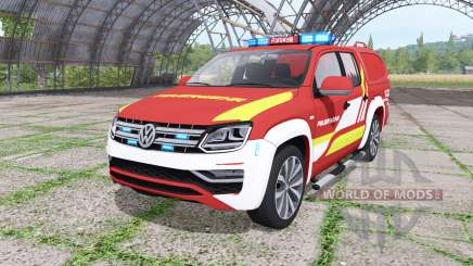 Volkswagen Amarok Double Cab feuerwehr v1.1 for Farming Simulator 2017
