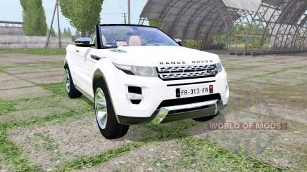 Land Rover Range Rover Evoque convertible 2016 for Farming Simulator 2017