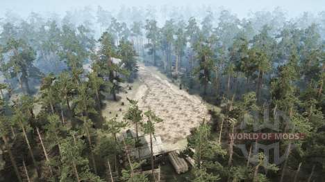 Abandoned village for Spintires MudRunner