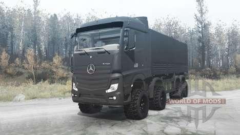 Mercedes-Benz Actros (MP4) 8x8 v3.0 for Spintires MudRunner