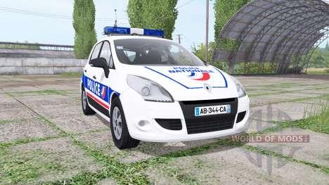 Renault Scenic (JZ) 2009 Police National for Farming Simulator 2017