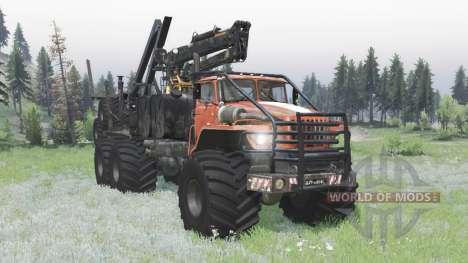 Ural Polyarnik 6x6 articulated frame for Spin Tires