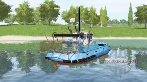 Blue ship for Farming Simulator 2017