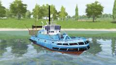 Blue ship for Farming Simulator 2017