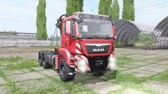 MAN TGS 26.480 crane v1.5 for Farming Simulator 2017