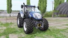 New Holland T7.290 wide tyre for Farming Simulator 2017