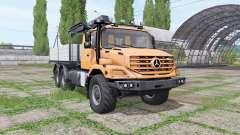 Mercedes-Benz Zetros 2733 A crane-manipulator for Farming Simulator 2017