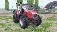 Massey Ferguson 8727 wheel configurations for Farming Simulator 2017