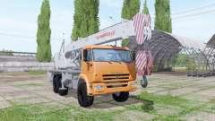 KAMAZ 65222 crane Chelyabinets for Farming Simulator 2017