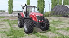 Massey Ferguson 8737 red for Farming Simulator 2017