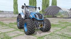 New Holland T7.315 blue for Farming Simulator 2017