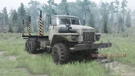 Ural 375Д elongated frame for MudRunner