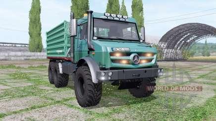 Mercedes-Benz Unimog U 5023 6x6 tipper v1.1 for Farming Simulator 2017