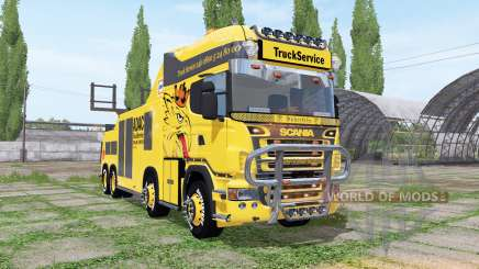 Scania R500 tow truck v1.1 for Farming Simulator 2017