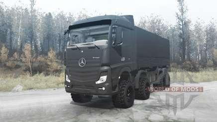 Mercedes-Benz Actros (MP4) 8x8 v3.0 for MudRunner
