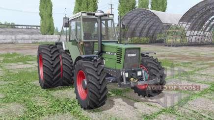 Fendt Favorit 615 LSA Turbomatik E dual rear for Farming Simulator 2017