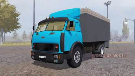 MAZ 500 container blue for Farming Simulator 2013