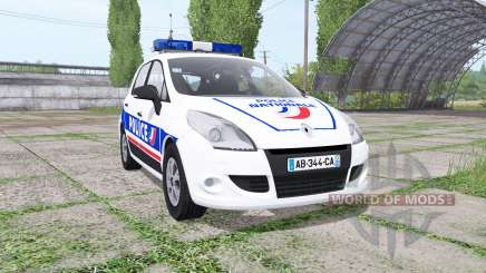 Renault Scenic (JZ) 2009 Police National for Farming Simulator 2017