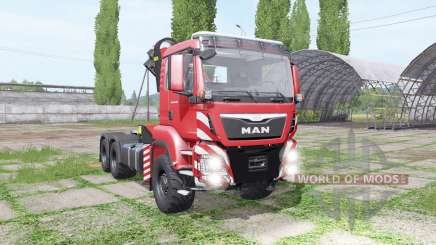 MAN TGS 26.480 crane v1.5 for Farming Simulator 2017